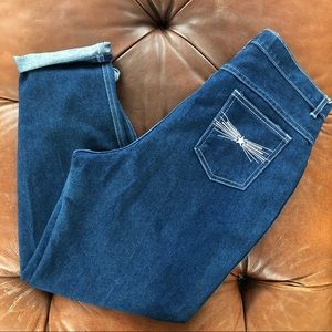 Vintage 80s Jeans Star Pocket High Rose Waist 34